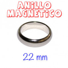 Magnetic ring - Silver -...